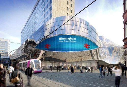 Two of the Media Eyes will be located at the main entrances to Birmingham New Street Station, and one above a flagship department store.