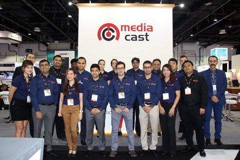 The MediaCast team at CABSAT 2016.