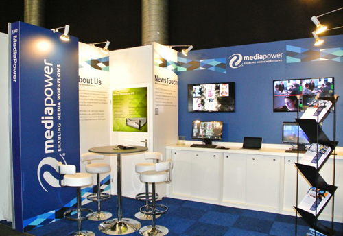 The MediaPower stand at IBC2013.
