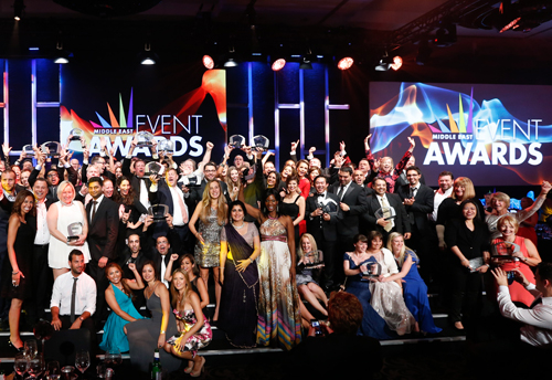 Winners at the 2014 Middle East Event Awards.