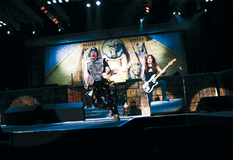 Al Laith supplied the stage for Iron Maiden's recent performance at Dubai Media City.