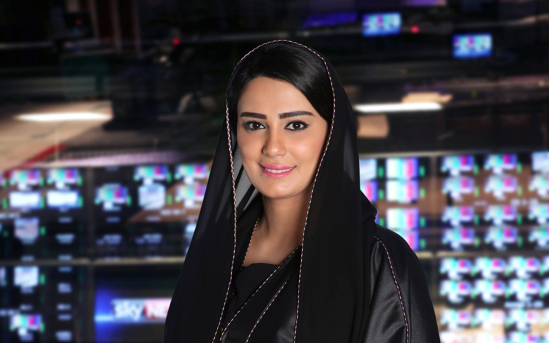 Nada Al-Shaibani, Sky News Arabia sports presenter.