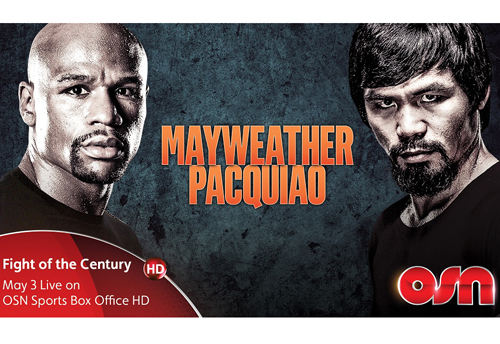 Boxing, Channel, Dubai, Fight, Floyd Mayweather, Manny Pacquiao, Mayweather, Network, OSN, Pacquiao, Pay per view, Shown, Time, Watch, Which, News, Delivery & Transmission