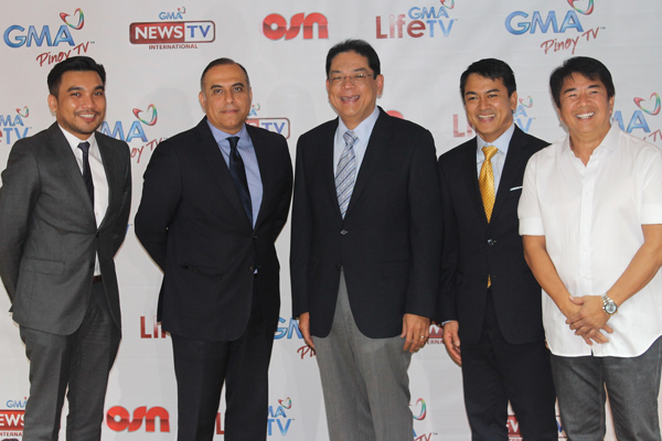 Representatives from the new Filipino channels that have been added to OSN.