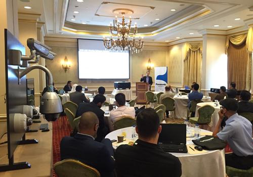 The seminar underway in Qatar.