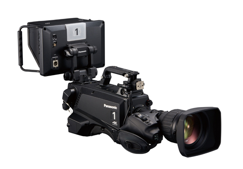 The new Panasonic UC3000 camera with HVF100 viewfinder.