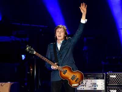 Paul McCartney performing in San Diego this year.