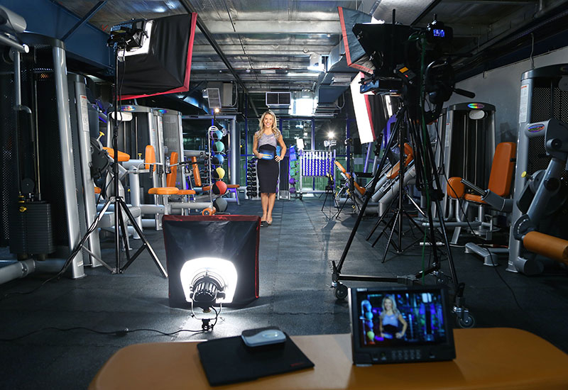 What's Up is one of the local shows filmed in the gym studio.
