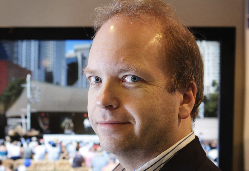 Pixel Power MD James Gilbert pictured at CABSAT 2010.