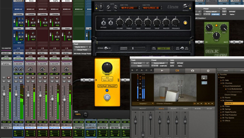 Pro Tools 12.2 with VCA masters, extended metering and plug-in bundle.
