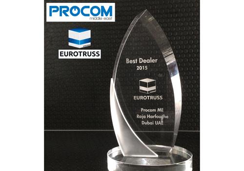 Award, Best dealer, Eurotruss, Netherlands, Procom, Procom Middle East, Raja Harfouche, Staging, Truss, Trussing, News, Content production
