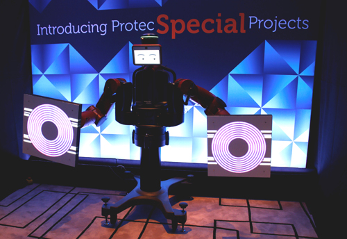 Protec introduces its new robots at the Middle East EVENT Show 2015 in Dubai.