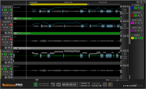 Audio, Editing, Pitch, Pitch shift, Revoice, Revoice 3.1, Software, Synchro Arts, News, Consumer-facing Tech