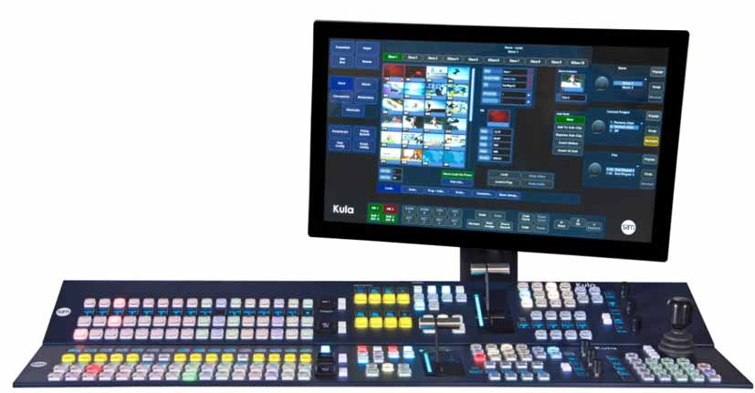 . SAM is also showing its 4K Kula 1ME/2ME production switcher among other tech.