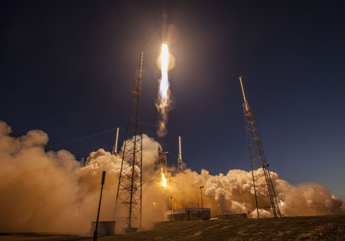 SES-9 was successfully launched on March 4th, 2016. (Image credit: SpaceX)