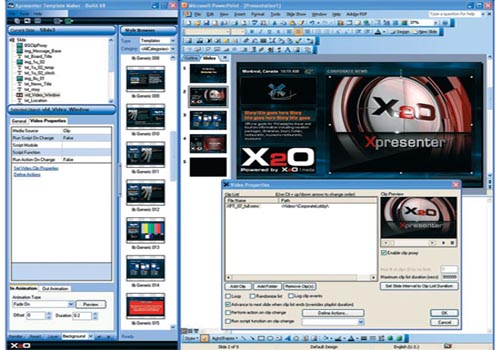The X2O Media's Xpresenter software suite offers a professional look with built-in production logic that enables streamlined loading and updating of c