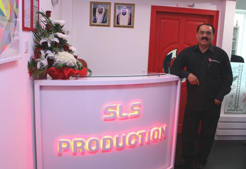 Martin Luiz at the new SLS Production office.