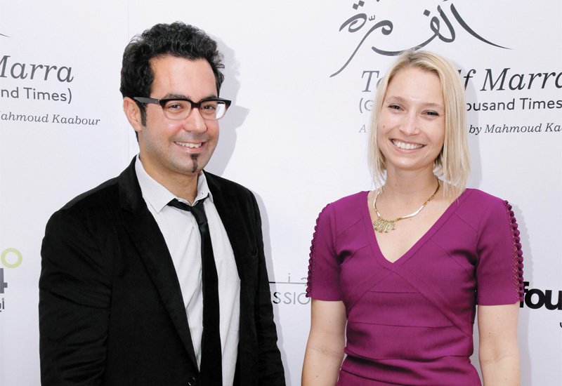 Eva Sayre with Champ of the Camp director Mahmoud Kaabour.