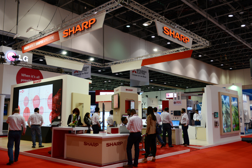 Sharp's stand at GITEX in 2013.