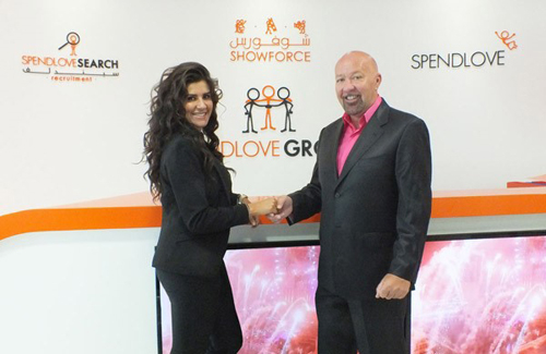 Nadine Nailly with Showforce founder & chief executive, Ian Spendlove.