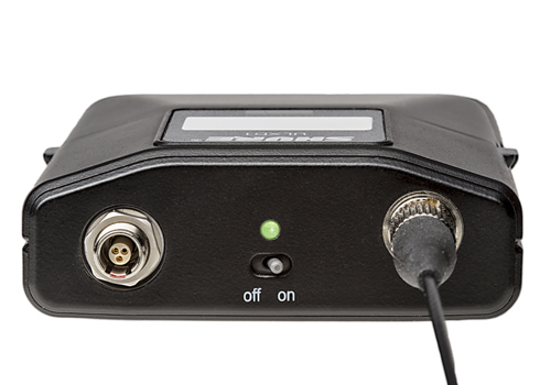 Shure's new bodypack-version for ULX-D digital wireless systems with LEMO3 connector.
