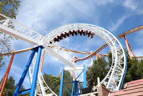 Six Flags Magic Mountain in Valencia, California. (Getty Images)