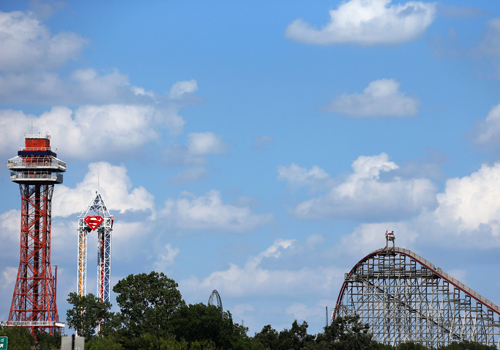The 'Texas Giant' rollercoaster at Six Flags Over Texas.