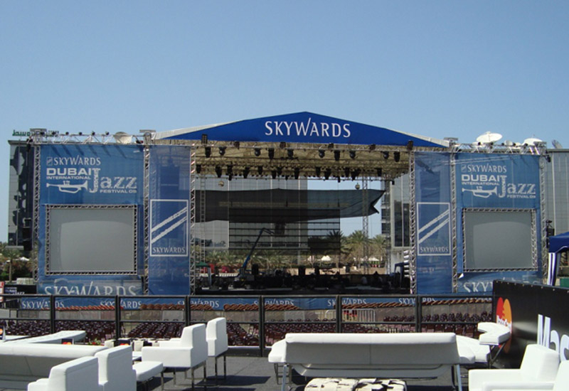 The Skywards stage pictured at the recent Dubai International Jazz Festival.