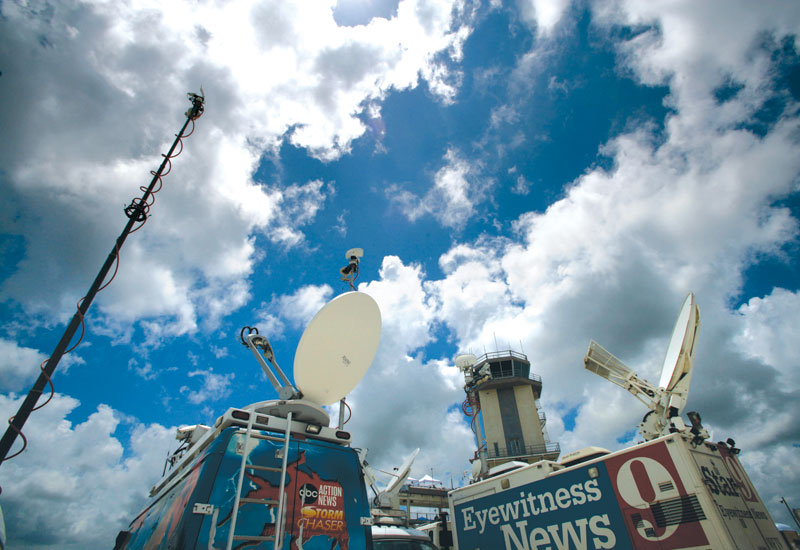 Despite the brief popularity of alternative broadcast technologies Salehian believes traditional satellite uplinks offer the best quality and price.