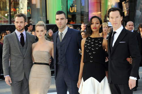 The lead cast of 2013's Star Trek: Into Darkness.