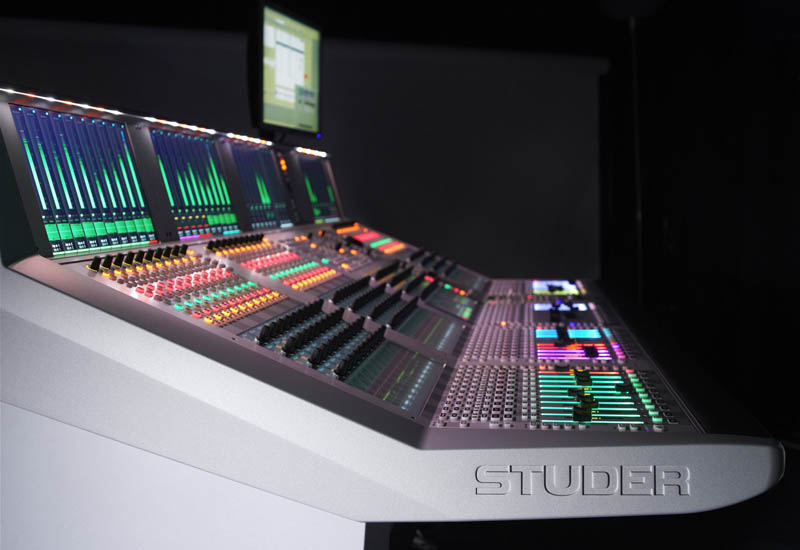 The Studer Soundcraft Vista 9 digital mixing console.