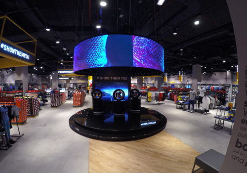 The curved LED now takes pride of place in the retail store.