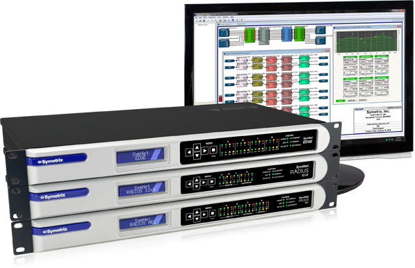 SymNet Edge, Radius 12x8 and Radius AEC will join the selection of Symetrix devices shown at InfoComm MEA 2014.