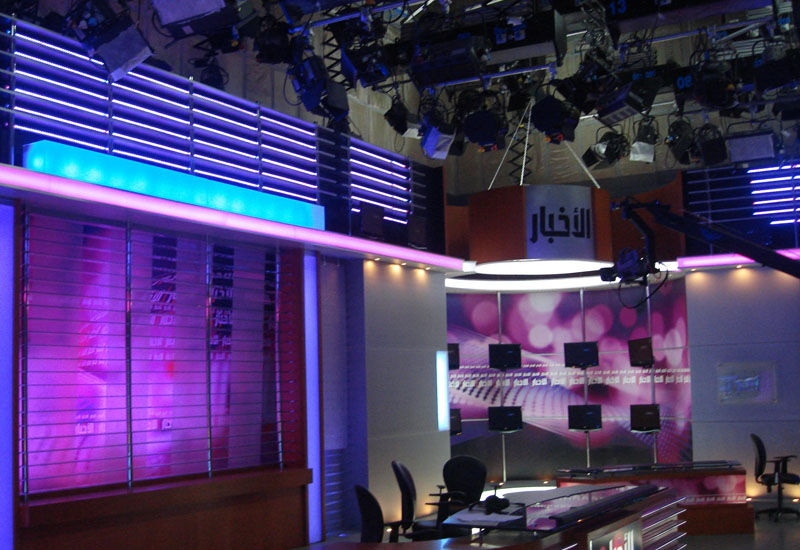 DMI invests in complete LED lighting solution for Syrian TV's new studio.