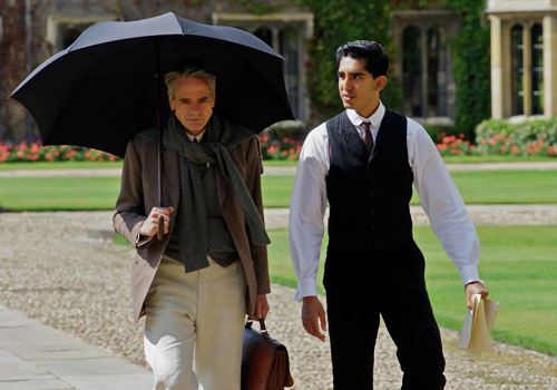 'The Man Who Knew Infinity', starring Dev Patel and Jeremy Irons.