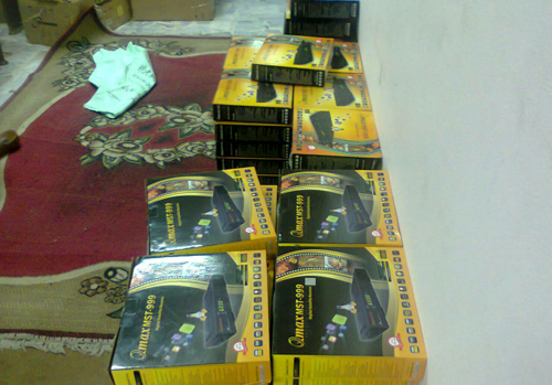 Police confiscated more than 370 IP decoders in the raid.