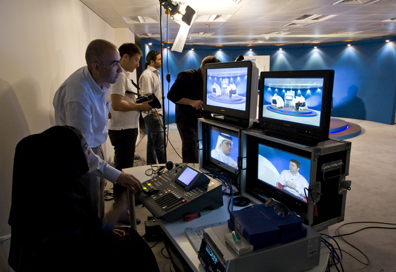 tadreeb broadcast production students in action in Abu Dhabi.