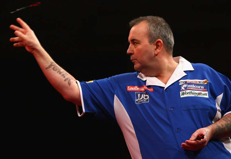 Reigning champ Phil Taylor: athletic brilliance.