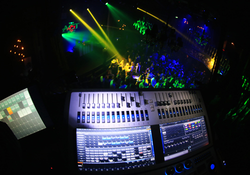 The new Avolites console in action.