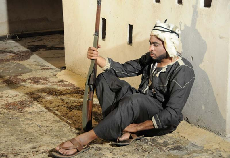 A screen shot Omani film, The Guard.