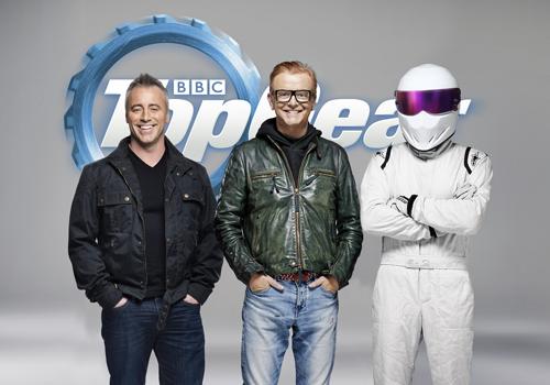 New Top Gear host Matt LeBlanc with Chris Evans and The Stig. [Image (c) Top Gear]