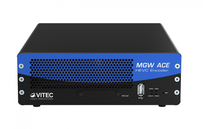 MGW Ace, the first 100% hardware-based HEVC portable device for encoding and streaming video.