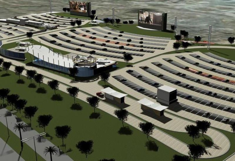 A rendering of part of the drive-in cinema complex planned in Fujairah, UAE.