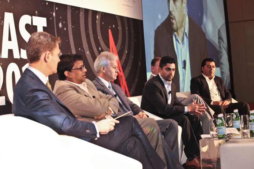 Maaz Sheikh (3rd from right), revealed OSN's investment in anti-piracy measures during the panel discussion on piracy in the Middle East
