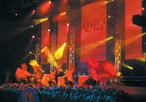 Lighthouse Productions supplied lighting equipment for the Shaolin Monks event in Dubai.