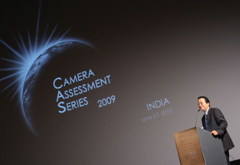 President of The American Society of Cinematographers (ASC) Michael Goi addressing the audience