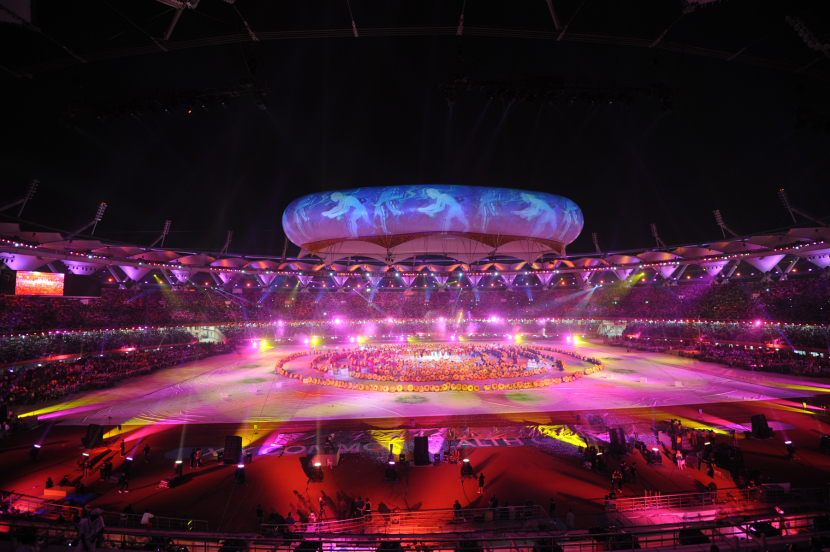 Clay Paky fixtures dominated the lighting kit for the Commonweath Games closing ceremony in Delhi.