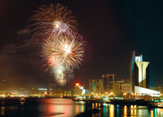 DSF's fireworks festival will be staged alongside Dubai Creek.