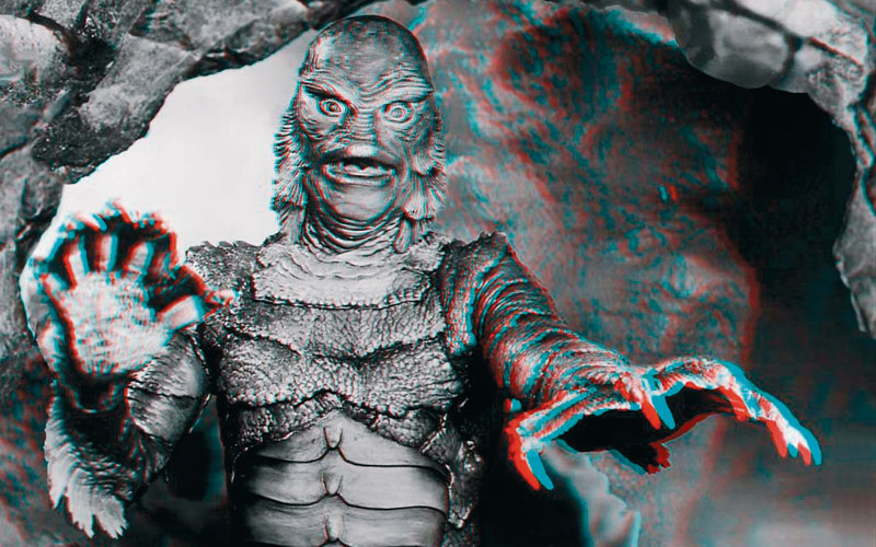 The Creature from the Black Lagoon: The peak of 3D's first wave in the 1950s.