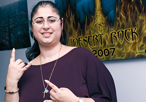 Lara Teperdjian, VP of CSM, which organises the annual Desert Rhythm and Desert Rock festivals in Dubai.